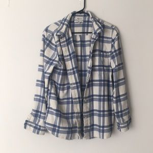 Madewell blue and white shirt